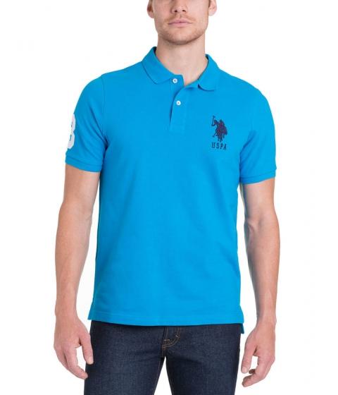 Imbracaminte Barbati US Polo Assn BIG LOGO Polo Shirt Teal Blue