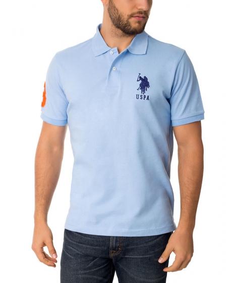 Imbracaminte Barbati US Polo Assn BIG LOGO Polo Shirt TERRY BLUE