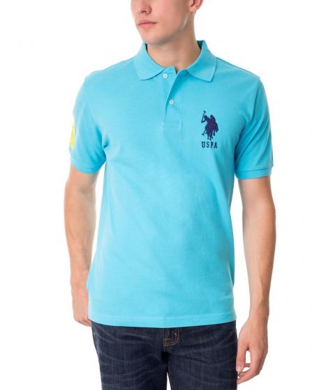 Imbracaminte Barbati US Polo Assn BIG LOGO Polo Shirt BLUE SEA