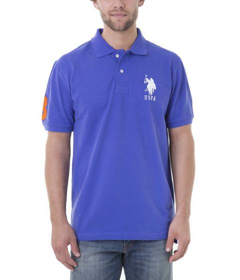 Imbracaminte Barbati US Polo Assn BIG LOGO Polo Shirt BLUE STORM