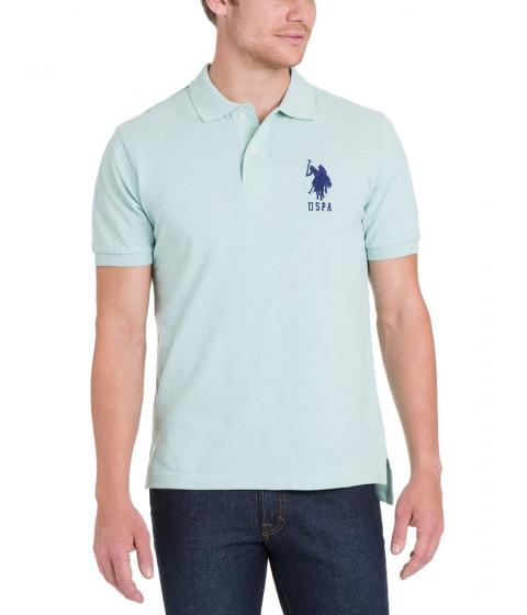 Imbracaminte Barbati US Polo Assn BIG LOGO Polo Shirt MINT HEATHER