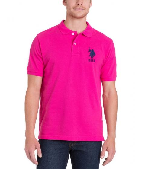 Imbracaminte Barbati US Polo Assn BIG LOGO Polo Shirt PINK PARADISE