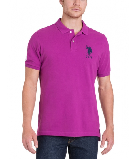 Imbracaminte Barbati US Polo Assn BIG LOGO Polo Shirt ROYAL FUCHSIA