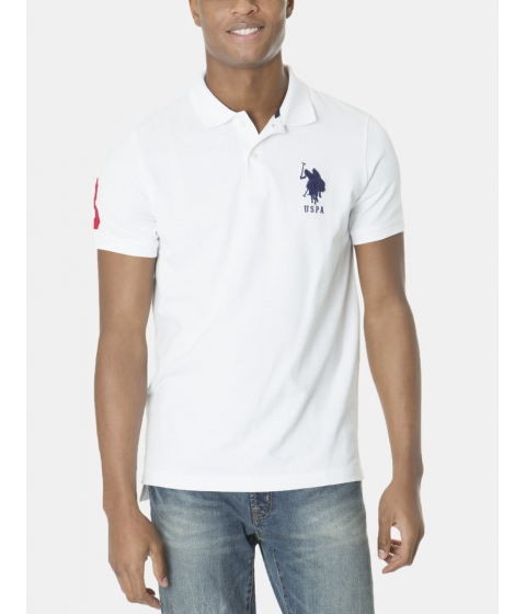 Imbracaminte Barbati US Polo Assn BIG LOGO Polo Shirt White
