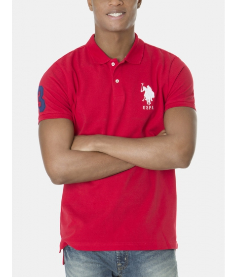 Imbracaminte Barbati US Polo Assn BIG LOGO Polo Shirt ENGINE RED WHITE