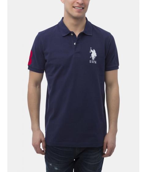 Imbracaminte Barbati US Polo Assn BIG LOGO Polo Shirt Classic NavyWhite