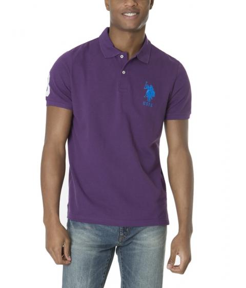 Imbracaminte Barbati US Polo Assn BIG LOGO Polo Shirt PURPLE GARDEN