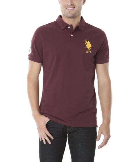 Imbracaminte Barbati US Polo Assn BIG LOGO Polo Shirt EAST BURGUNDY