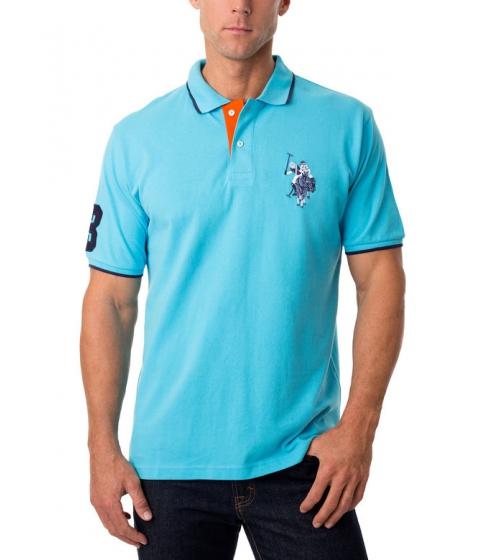 Imbracaminte Barbati US Polo Assn Tonal Logo Polo Shirt BLUE SEA