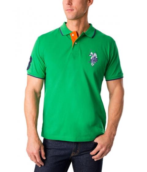 Imbracaminte Barbati US Polo Assn Tonal Logo Polo Shirt COURT GREEN