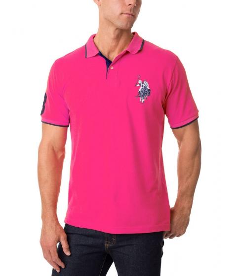 Imbracaminte Barbati US Polo Assn Tonal Logo Polo Shirt PINK PARADISE
