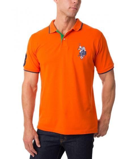 Imbracaminte Barbati US Polo Assn Tonal Logo Polo Shirt LIGHTHOUSE ORANGE