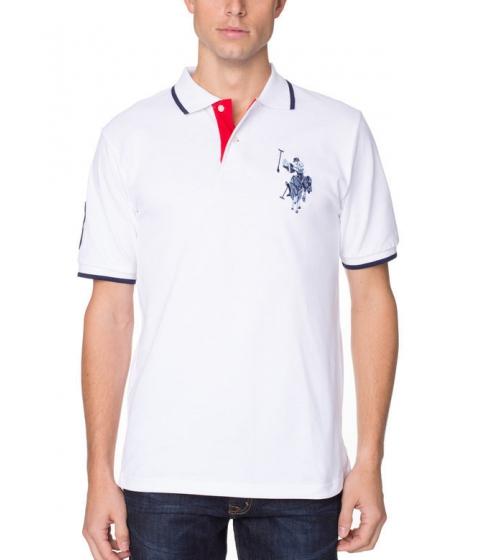 Imbracaminte Barbati US Polo Assn Tonal Logo Polo Shirt White