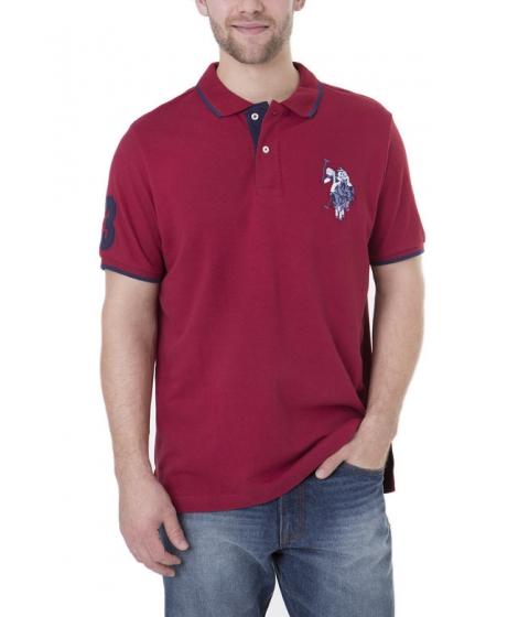Imbracaminte Barbati US Polo Assn Tonal Logo Polo Shirt UNIVERSITY RED