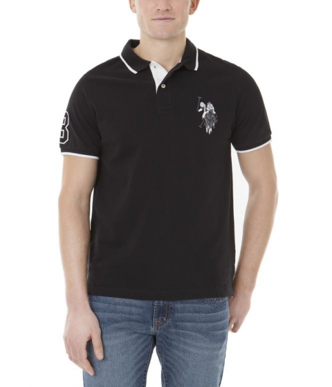 Imbracaminte Barbati US Polo Assn Tonal Logo Polo Shirt Black