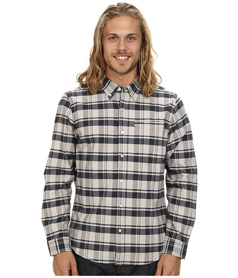 Imbracaminte Barbati Hurley Ace Oxford The Plaid Long Sleeve Light Iron Ore