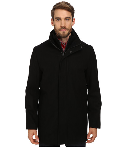 Imbracaminte Barbati Calvin Klein Wool Blend Bibbed Walking Coat CM485679 Black