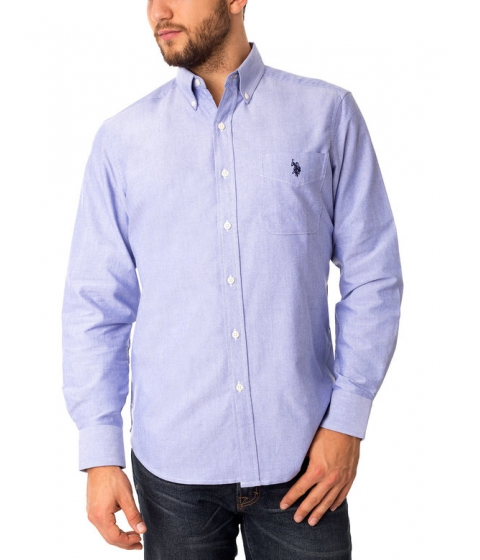 Imbracaminte Barbati US Polo Assn Classic Oxford Shirt International Blue