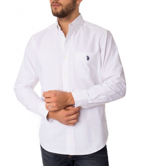 Imbracaminte Barbati US Polo Assn Classic Oxford Shirt Optic White