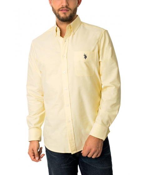Imbracaminte Barbati US Polo Assn Classic Oxford Shirt SAILING YELLOW