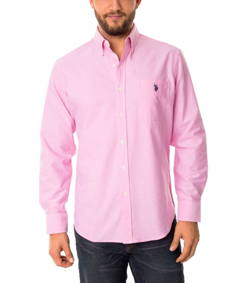 Imbracaminte Barbati US Polo Assn Classic Oxford Shirt Coastal Pink