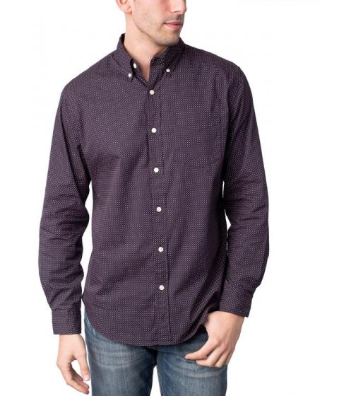 Imbracaminte Barbati US Polo Assn Slim Fit Long Sleeve Poplin Dot Shirt DODGER BLUE