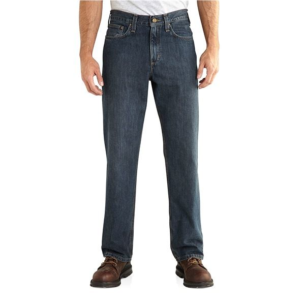 Imbracaminte Barbati Carhartt Holter Relaxed Fit Denim Jeans FRONTIER (01)