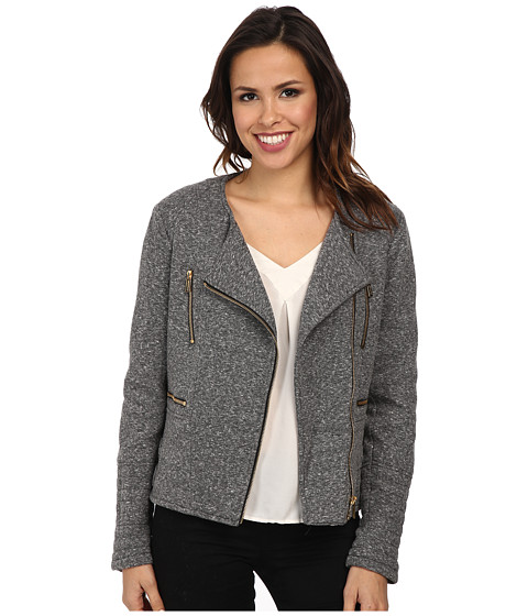 Imbracaminte Femei Calvin Klein Heather Terry Moto Jacket Heather Charcoal