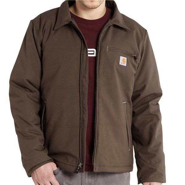 Imbracaminte Barbati Carhartt Quick Duck Livingston Hooded Jacket - Fleece Lining Insulated BLACK (01)