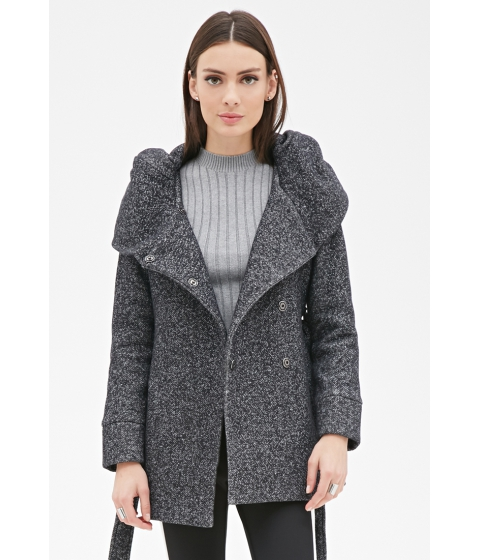 Imbracaminte Femei Forever21 Heathered Knit Cocoon Jacket Heather grey