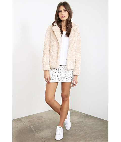 Imbracaminte Femei Forever21 Boxy Faux Fur Jacket Blush