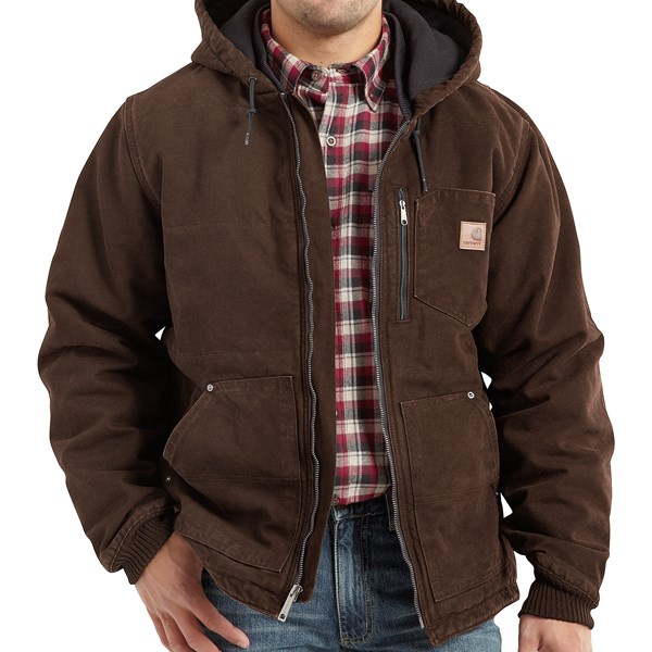 Imbracaminte Barbati Carhartt Chapman Sandstone Duck Jacket - Insulated DARK BROWN (04)