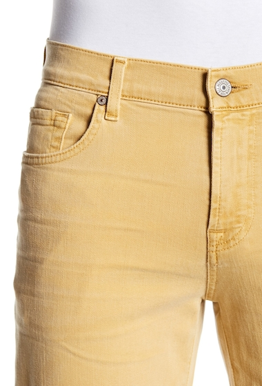 Imbracaminte Barbati 7 For All Mankind Slimmy Straight Leg Jeans GOLDEN WHE