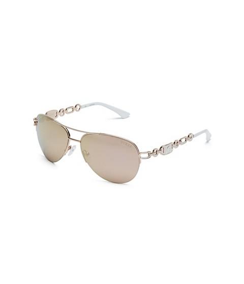 Ochelari Femei GUESS Chain Aviator Sunglasses powder indigo wash