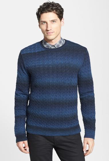 Imbracaminte Barbati Star USA By John Varvatos Cable Knit Crew Neck Sweater COBALT