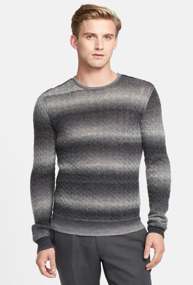 Imbracaminte Barbati Star USA By John Varvatos Cable Knit Crew Neck Sweater OXIDE