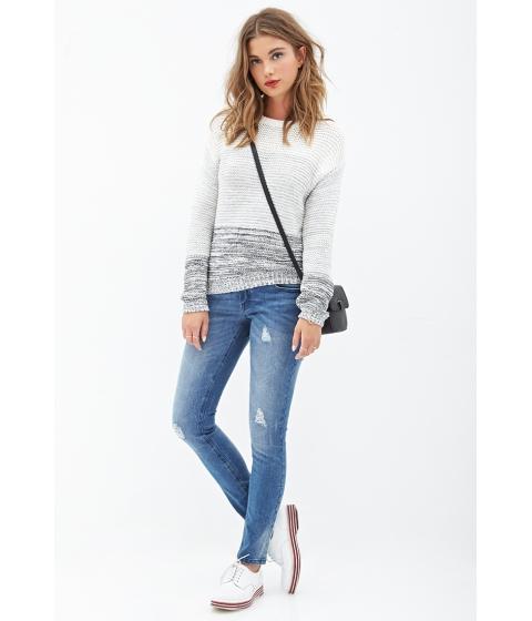 Imbracaminte Femei Forever21 Low-Rise Distressed Skinny Jeans Medium denim