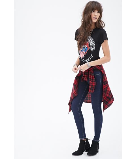 Imbracaminte Femei Forever21 Mid-Rise Skinny Jeans Dark denim