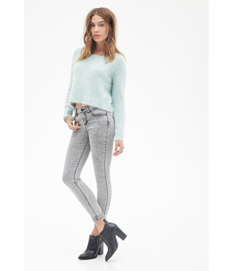 Imbracaminte Femei Forever21 Mid-Rise - Classic Skinny Jeans Grey