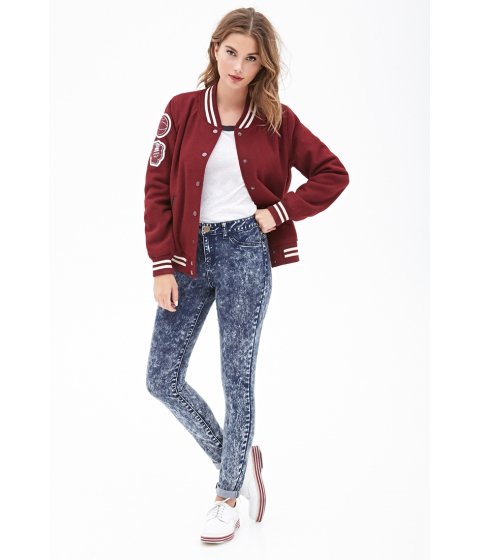 Imbracaminte Femei Forever21 Mineral Wash Skinny Jeans Indigo
