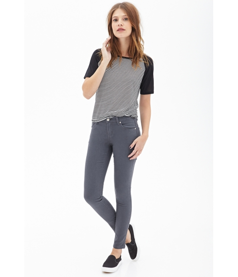 Imbracaminte Femei Forever21 Classic Skinny Jeans Grey