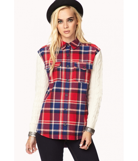 Imbracaminte Femei Forever21 Rustic Plaid Flannel Creamred