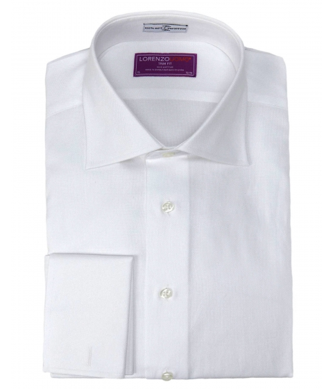 Imbracaminte Barbati Lorenzo Uomo Trim Fit French Cuff Dress Shirt White