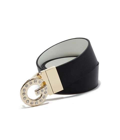 Accesorii Femei GUESS Reversible Black White Logo Belt blackwhite