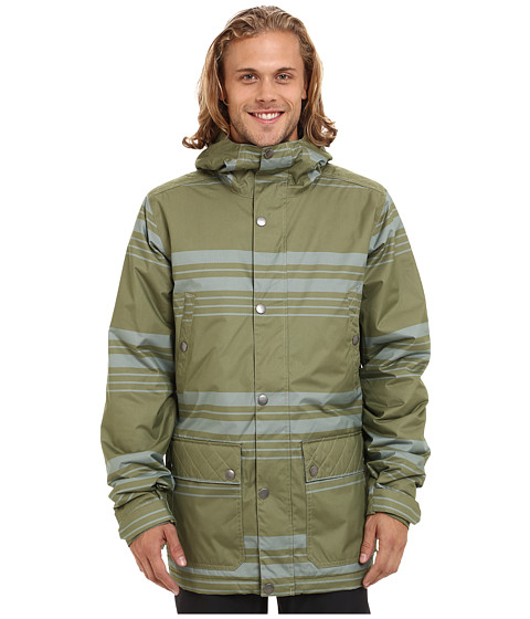 Imbracaminte Barbati Burton TWC Greenlight Jacket Algae Belmont Stripe