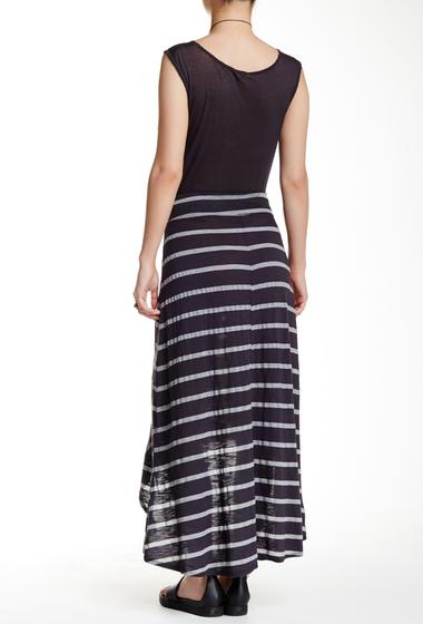 Imbracaminte Femei Allen Allen Striped Hi-Lo Skirt JET GREY