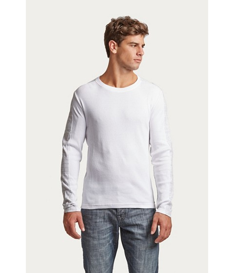 Imbracaminte Barbati GUESS Geller Long-Sleeve Tee true white