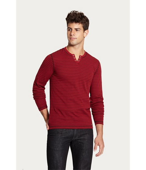 Imbracaminte Barbati GUESS Nicolay Striped Long-Sleeve Tee deep cranberry
