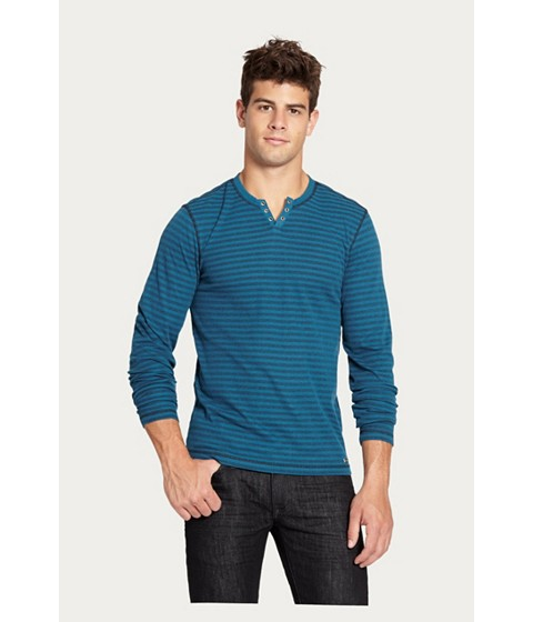 Imbracaminte Barbati GUESS Nicolay Striped Long-Sleeve Tee blue coral
