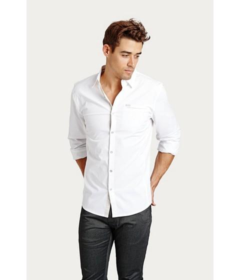 Imbracaminte Barbati GUESS Cowan Shirt true white